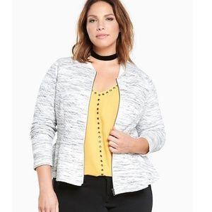 Torrid Quilted Knit Zip Peplum Jacket 5